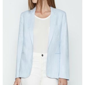 Joie Sz 6 Mehira linen blazer in light blue